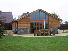 Open plan barn conversion on the Isle of Wight