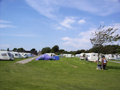 Camp site by the sea in West Wittering